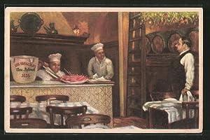 """Artista-Postal Barcelona, """"Los Caracoles"""" Restaurante, Escudillers 14,"""