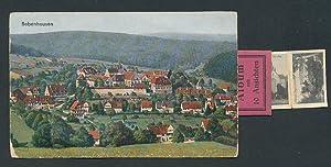 Leporello-Ansichtskarte Bebenhausen, Totalansicht, Album mit Ansichten