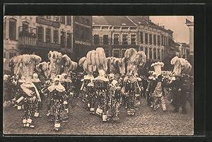 Ansichtskarte Binche, Le Carnaval, Groupe de Gilles,