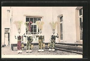 Ansichtskarte Binche, Carnaval, Gilles en grande tenue,