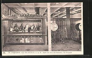 Ansichtskarte Passagierschiff Ile de France, Salle de