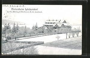 Ansichtskarte Lückendorf, Ferienheim im Winter, Bes. Fa.