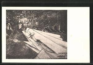 Künstler-Ansichtskarte Jan Toorop: 'T Heilige Schreed Heen
