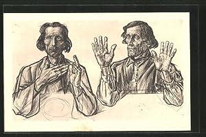 Künstler-Ansichtskarte Jan Toorop: Die Aposteln Andreas und