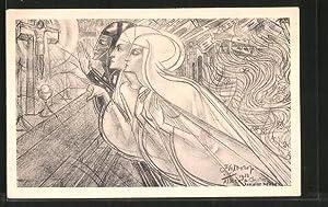 Künstler-Ansichtskarte Jan Toorop: Allein Christus kann alles