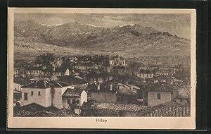 Ansichtskarte Prilep, Teilansicht der Stadt