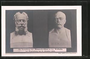 Ansichtskarte Die Enthüllung der Bismarck-Büste in der