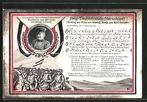 Ansichtskarte Jung Deutschlands-Marschlied!, Generalfeldmarschall Freiherr von der