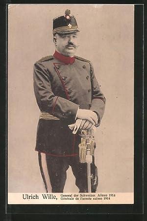 Ansichtskarte Ulrich Wille, General der schweizer Armee