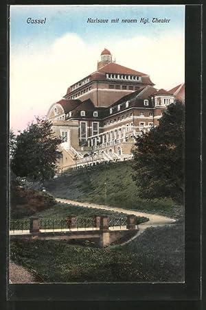 Ansichtskarte Kassel, Partie in der Karlsaue mit