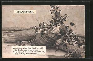 Ansichtskarte De Landstorm, De tijding ging door