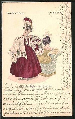Ansichtskarte Modes de Paris, Année 1834, Journal