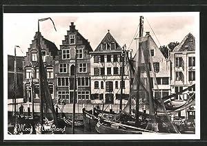 Ansichtskarte Neuerland, Mool, Hafenmotiv