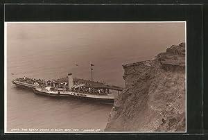 "Ansichtskarte Alum Bay, Dampfer ""Lorna Doone"" an"