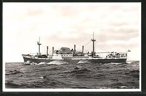 """Ansichtskarte Handelsschiff """"M.S. Prins Willem an Oranje"""""""