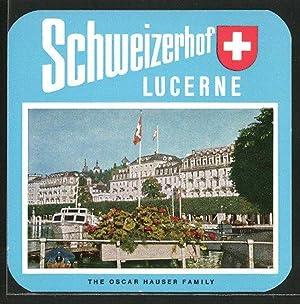 Kofferaufkleber Montreux, Grand Hotel Suisse, Majestic, Hotelgebäude,