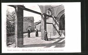Cartolina Verna, Chiesa Maggiore, Il Portico e
