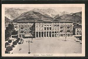 Cartolina Carrara, Piazza Matteotti