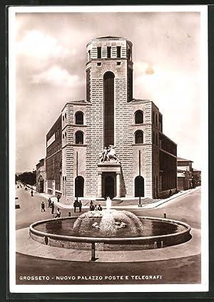 Cartolina Grosseto, Nuovo Palazzo Poste e Telegrafi