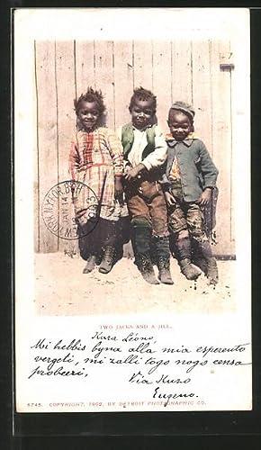 Ansichtskarte Two Jacks and a Jill, Afro-amerikanische