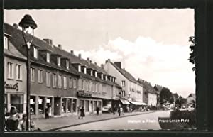 Ansichtskarte Walsum, Franz-Lenze-Platz mit Geschäften