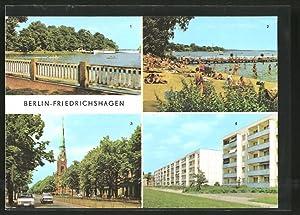 Ansichtskarte Berlin-Friedrichshagen, Spreetunnel, Bölschestrasse, Assmannstrasse