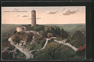 Ansichtskarte Jena, Fuchsturm vom Greifenberg gesehen