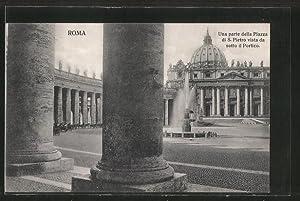 Ansichtskarte Roma-Vaticano, Una parte della Piazza di