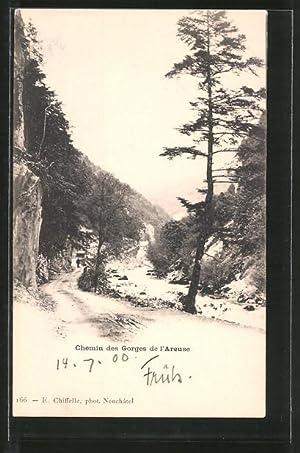 Ansichtskarte Les Gorges de l'Areuse, Chemin, Strasse