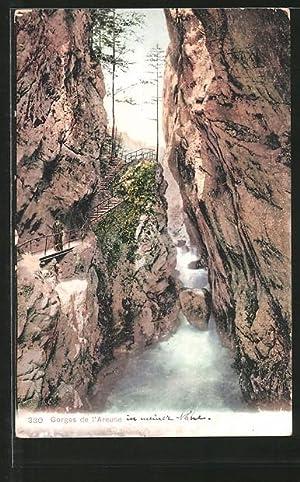 Ansichtskarte Les Gorges de l'Areuse, Weg in