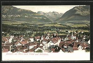 Ansichtskarte Sarnen, Ortsansicht mit Blick nach Flühli