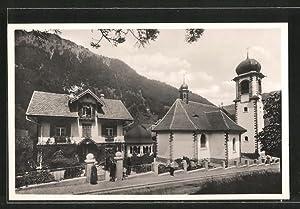 Ansichtskarte Melchthal, Wallfahrtskirche mit Kaplanei