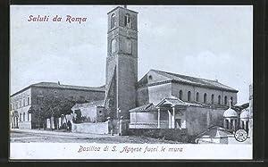 Cartolina Roma, Basilica di S. Agnese fuori