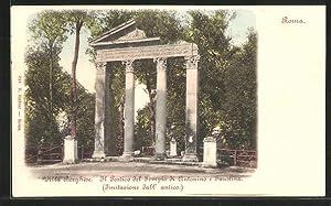 Cartolina Roma, Villa Borghese, Il Portico del
