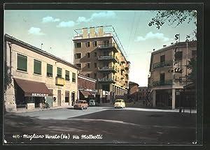 Cartolina Mogliano Veneto, Via Matteotti