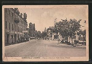 Cartolina Serravalle Libarna, Piazza Littorio e Viale