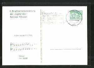 Ansichtskarte Potsdam, 6. Briefmarkenausstellung der Jugend des