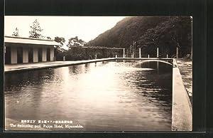 Ansichtskarte Miyanoshita, Fujiya Hotel, The Wwimming pool