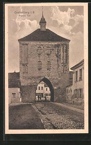 Ansichtskarte Greifenberg, Partie am Hohen Tor