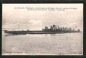 """Carte postale U-bateau / Sous-Marin """"Vendémiaire"""" abordé"""