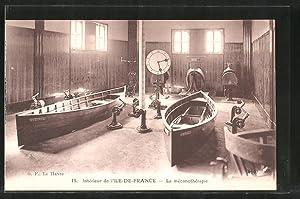 """Ansichtskarte Passagierschiff """"Ile-de-France"""", intérieur de l'Ile de"""