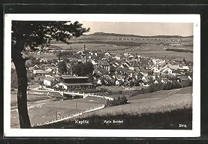 Ansichtskarte Kaplitz, Blick auf den Ort