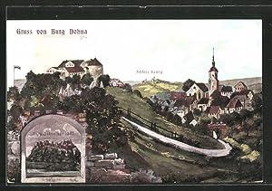 Ansichtskarte Dohna, Burg Dohna mit Blick auf