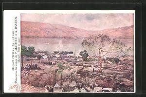 Künstler-Ansichtskarte Matadi, Port et Gare
