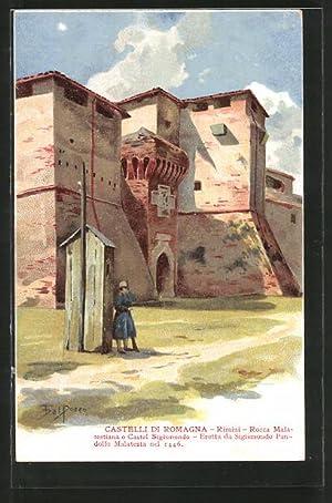 Artista-Cartolina Rimini, Rocca Malatestiana o Castel Sigismondo