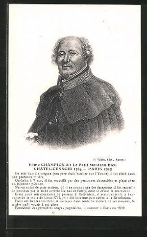 Ansichtskarte Porträt des Juweliers Edme Champion
