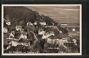Ansichtskarte Bad Wörishofen, Totalansicht mit Kurhaus Sanitas