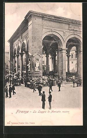 Cartolina Firenze, La Loggia di Marcato nuovo