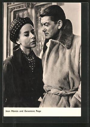 Ansichtskarte Schauspieler Jean Marais und Genevieve Page