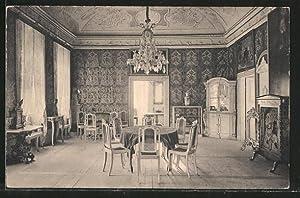 Ansichtskarte Weesenstein, Gesellschaftssaal mit Ledertapeten im Schloss,